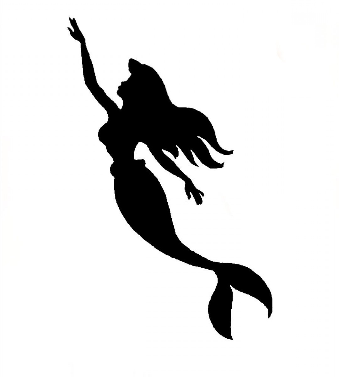 Ariel The Little Mermaid Silhouette.