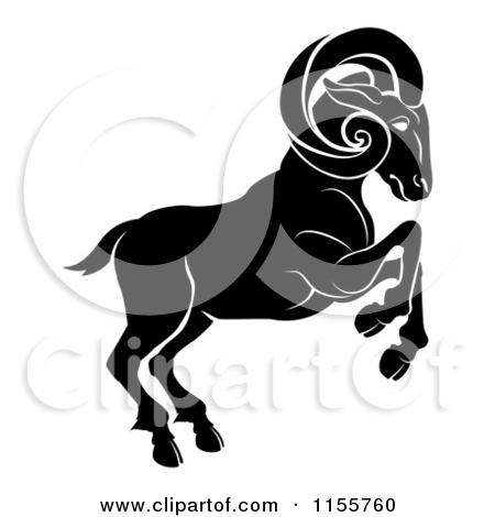 Aries zodiac clipart.