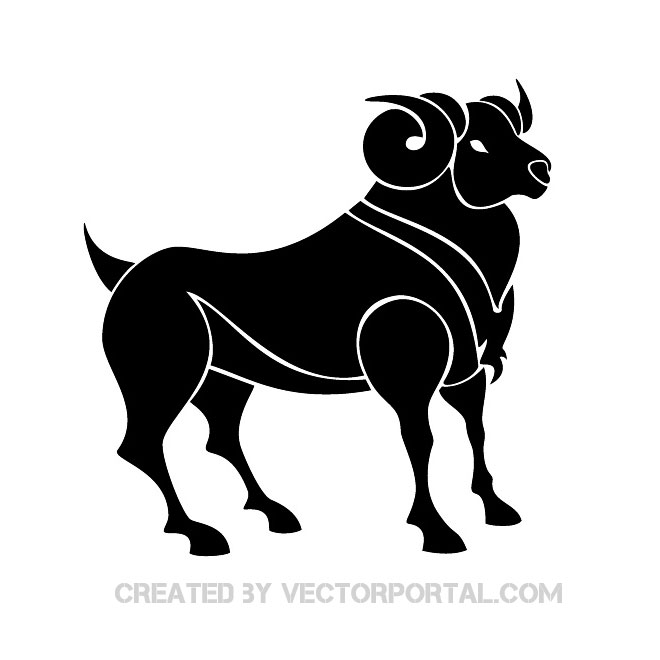 Aries Clip Art Free Vector.