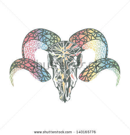 Aries Vector Scull Stock Vector 140165776.