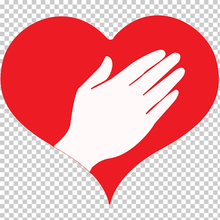 Heart Hand Finger , caring PNG clipart.