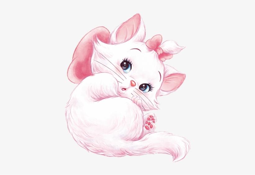 Marie Disney Cat Meow Watercolor Handpainted Cute Sweet.