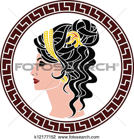Clipart of stencil of aristocrat woman k12177152.