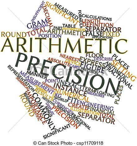 Clipart of Arithmetic precision.