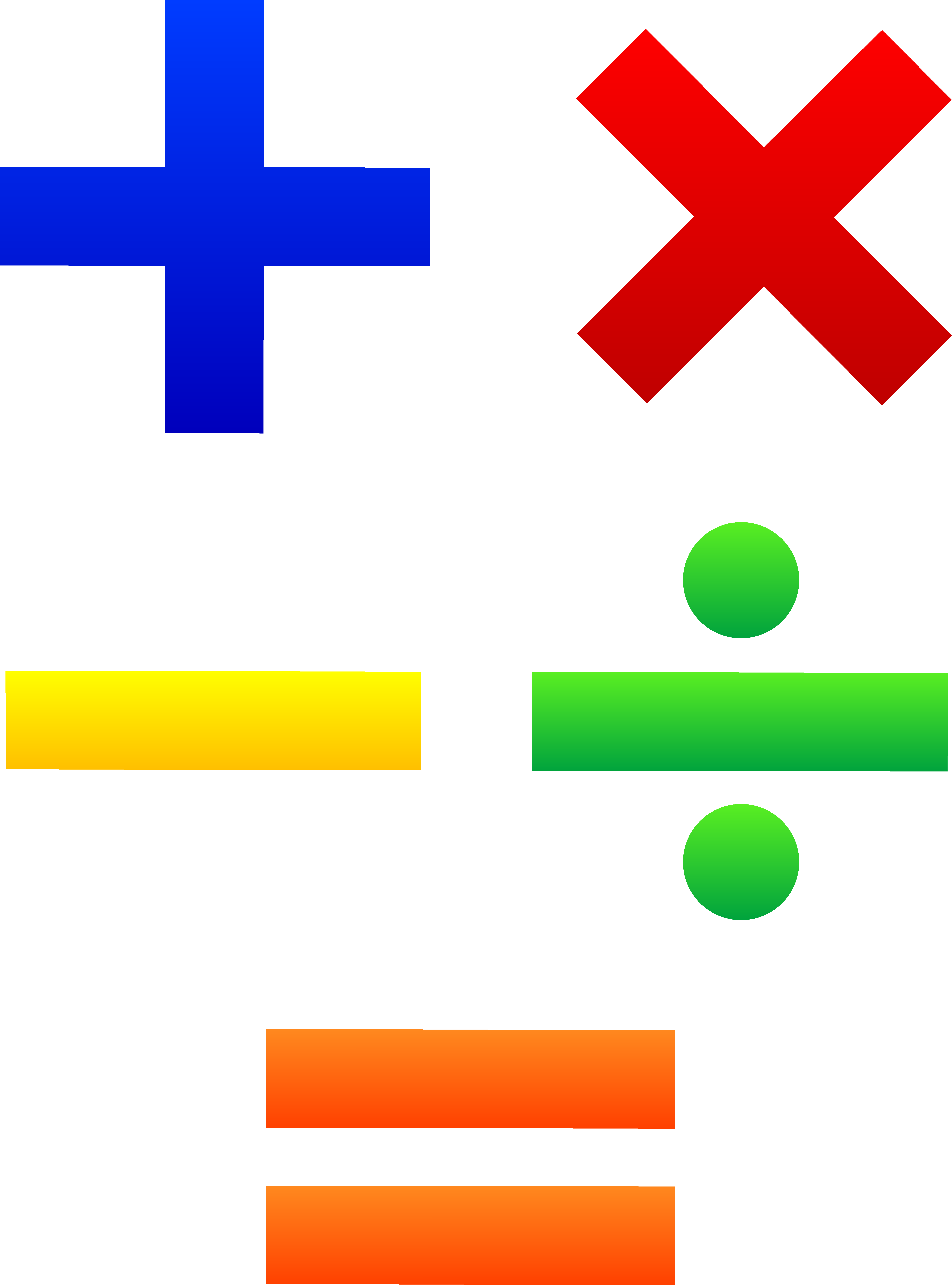 Clipart of math symbols.