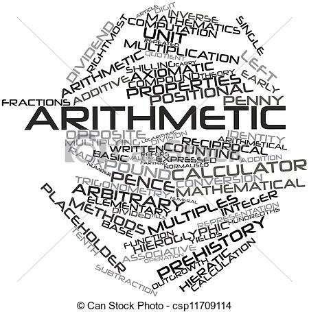 Clipart of Arithmetic.