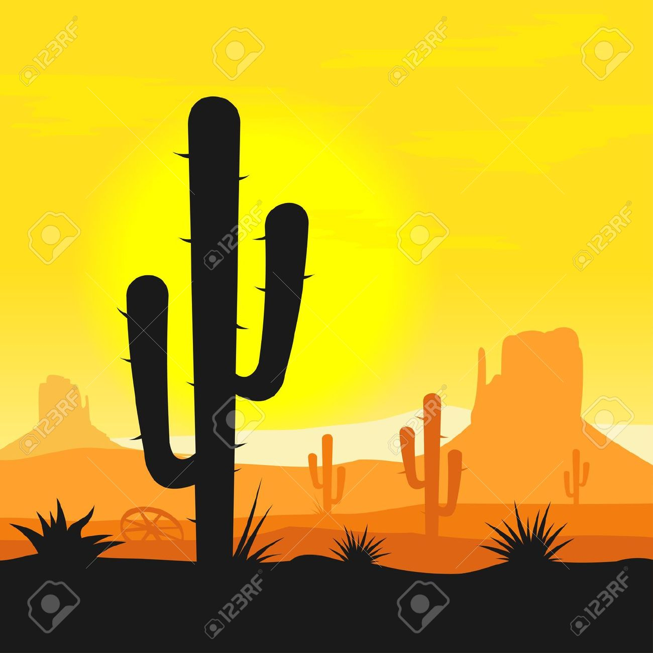 Arizona Desert Clip Art.