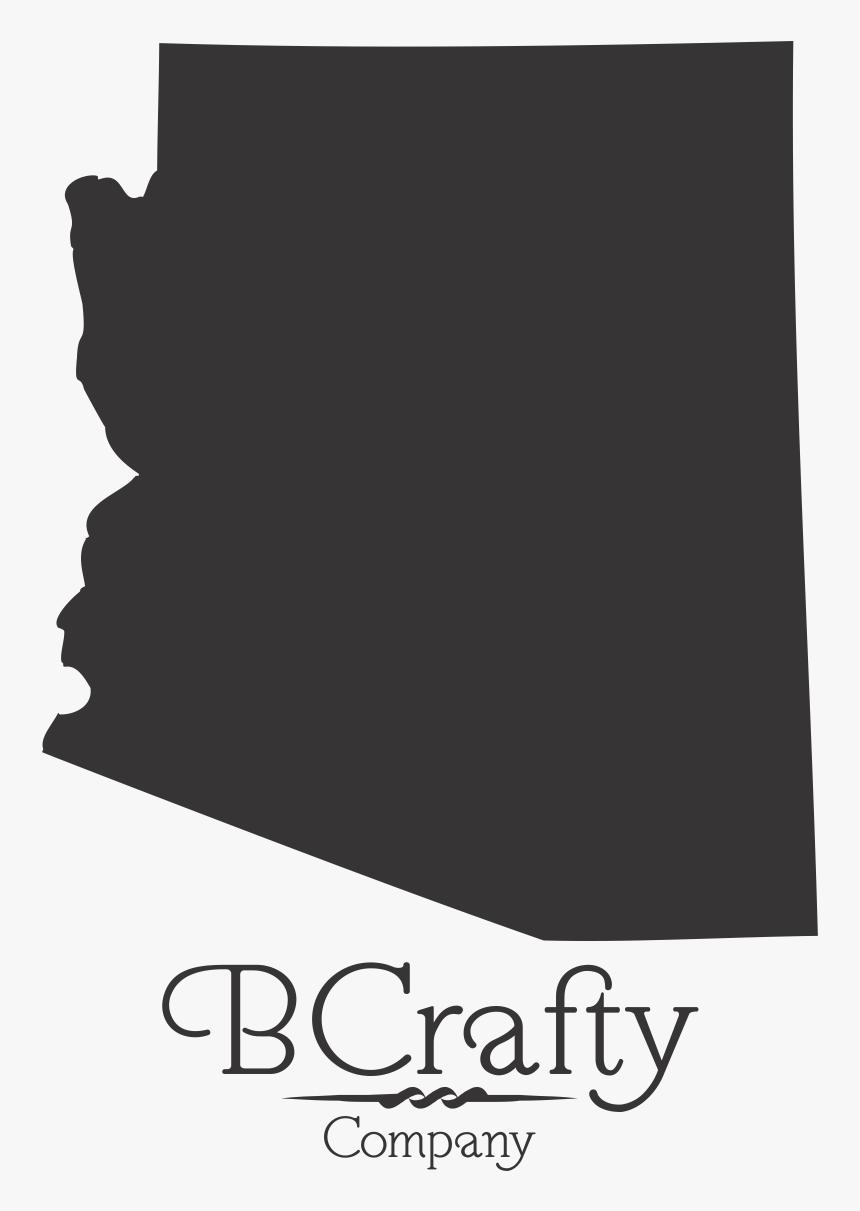 Acrylic Arizona State Blanks Map.