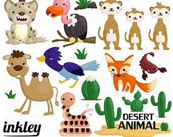 Desert Animals Clipart.