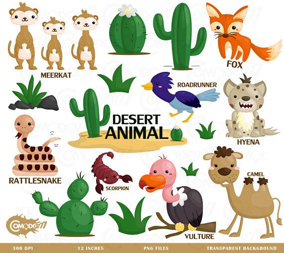 Desert Animal Clipart.