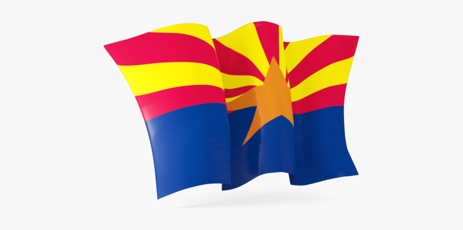 Arizona Flag Waving Clipart , Transparent Cartoon, Free.