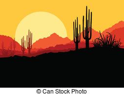 Arizona Landscape Clipart.
