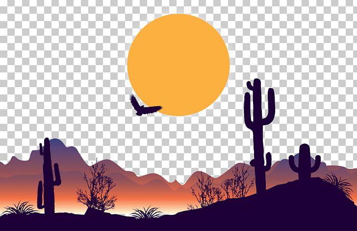 Dusk Desert PNG, Clipart, Arizona Desert, Art, Birds.