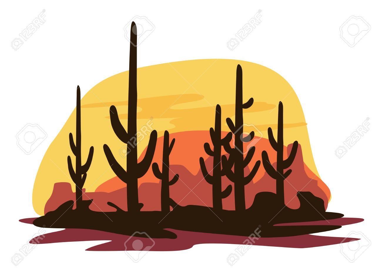2747 Desert free clipart.