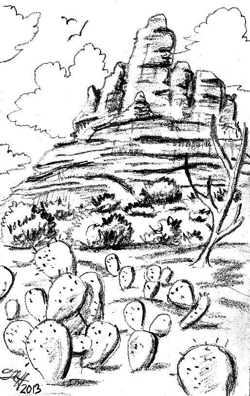 sedona #arizona #az #art #sketch #draw #drawing #tinyart.