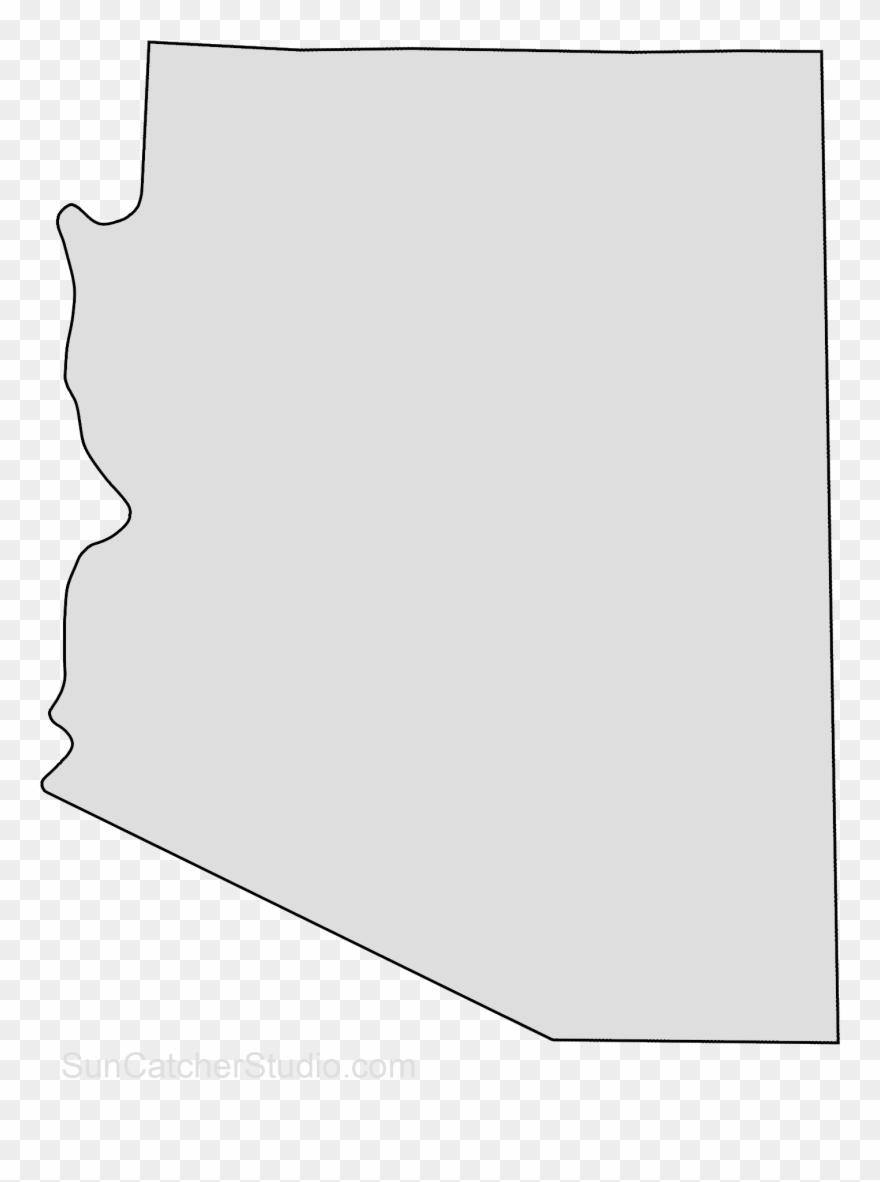 Arizona Map Outline Png Shape State Stencil Clip Art Transparent Png.
