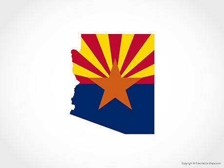 Vector Map of Arizona.