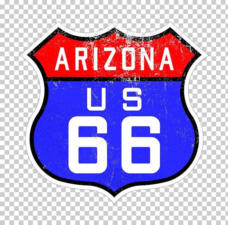 Road 66 Sign, Arizona US 66 logo PNG clipart.
