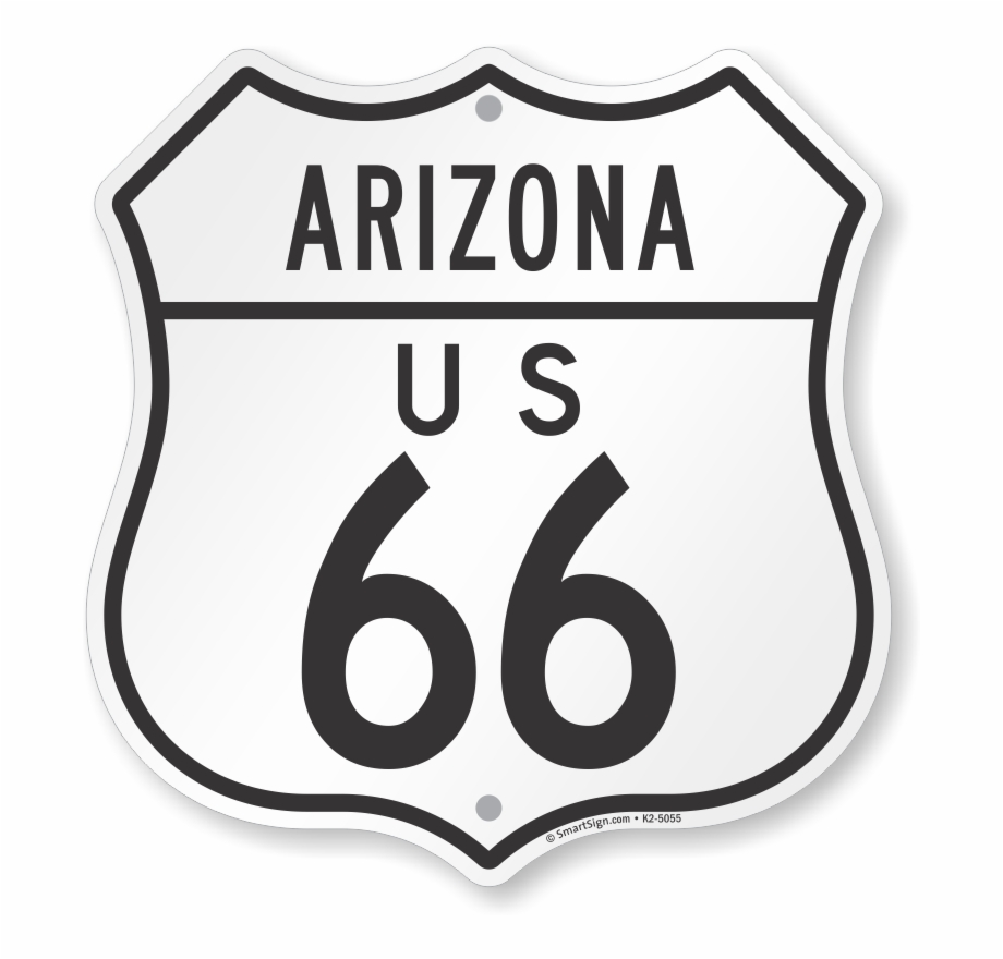 Us 66 Arizona Route Marker Shield Sign Parking.