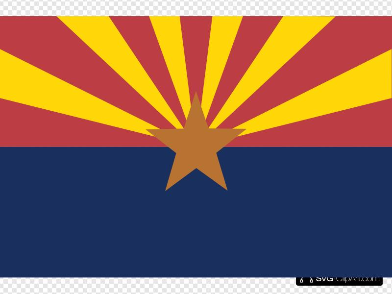 Flag Of Arizona Clip art, Icon and SVG.