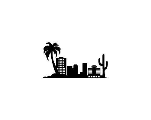 ™ Portfolio : Phoenix Arizona skyline for Strideline Crew.