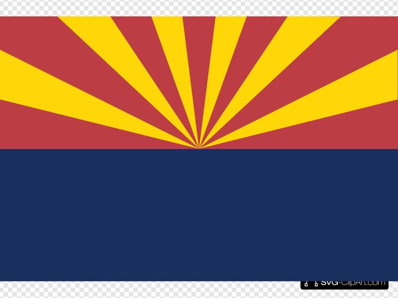 Arizona Flag Without Star Clip art, Icon and SVG.