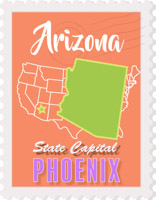 Fifty States: Arizona Clipart.