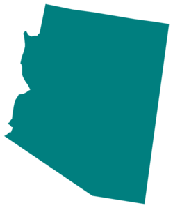 Arizona Teal State Clip Art.