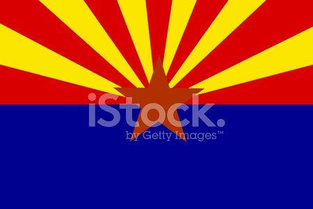 Arizona State Flag ( VECTOR ) Clipart Image.