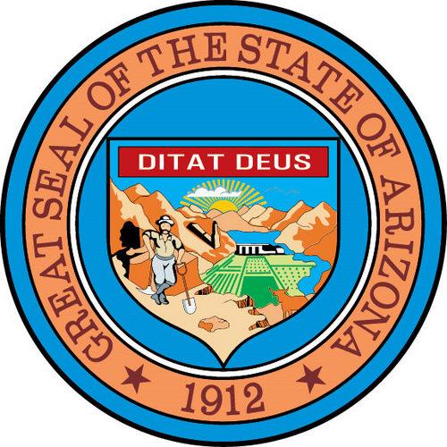 The Seal of Arizona State.