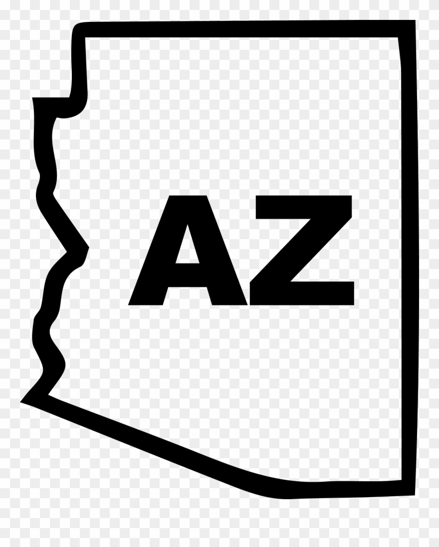 Arizona State Outline Decal.