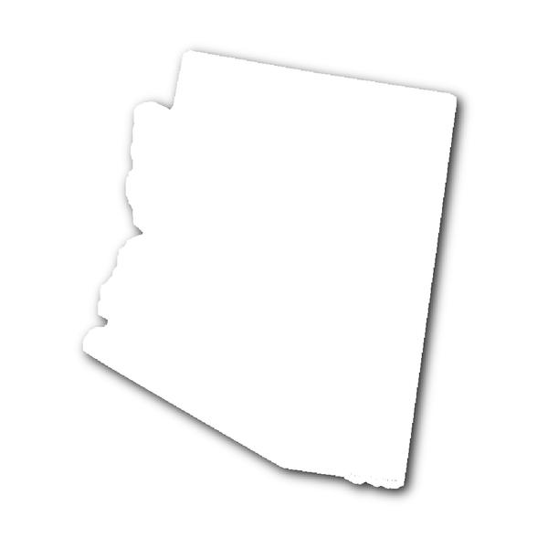 Arizona State Shape Outline PURPLE.