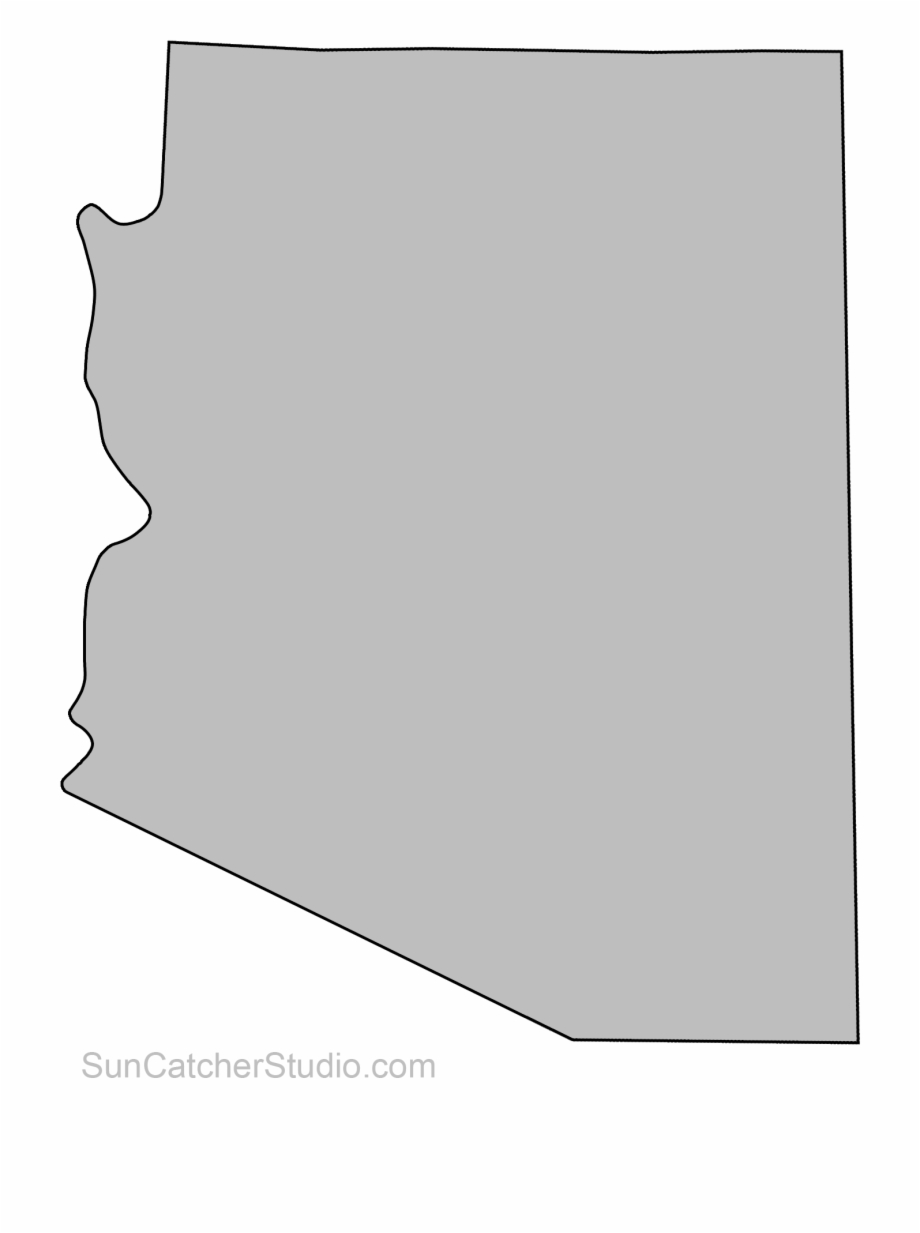 Arizona Outline Clip Art Pattern Printable Downloadable.