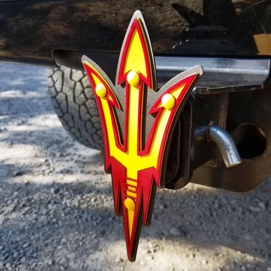 Arizona State Sun Devils Premium Steel Hitch Cover.