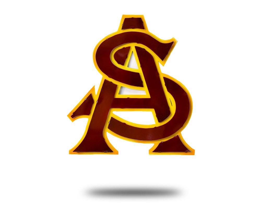 Arizona State University Logo 3D Metal Artwork.