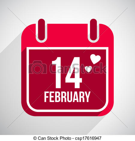 14 February Valentine Day Clipart.