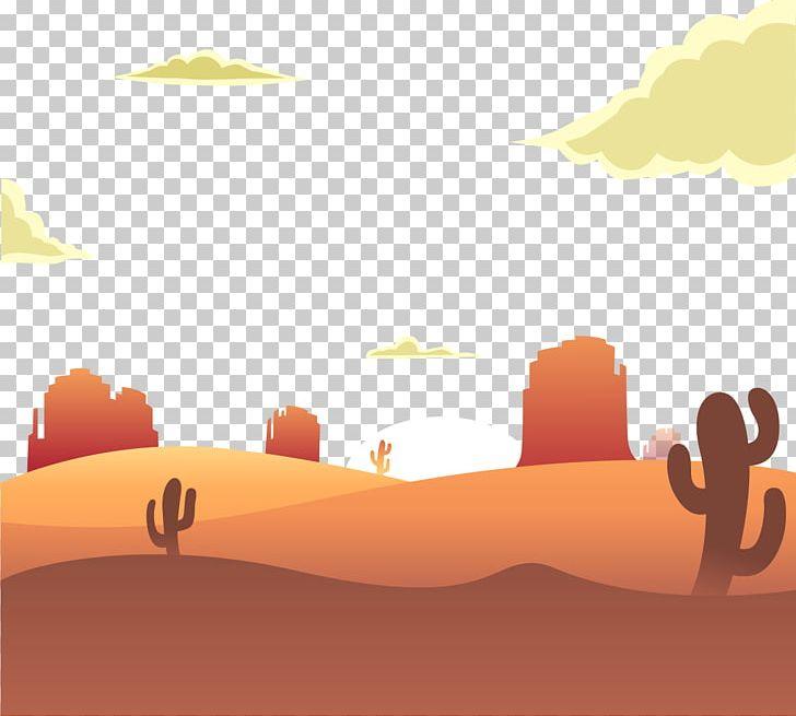 Sunrise Desert Euclidean Illustration PNG, Clipart, Adobe.