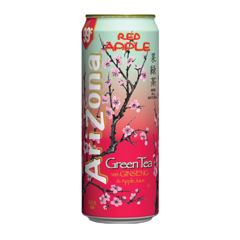AriZona Green Tea Red Apple 23oz (680ml).