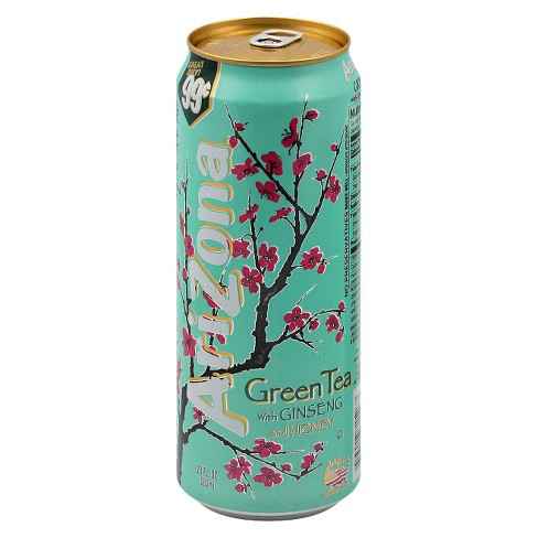 ARIZONA GREEN TEA WITH GINSENG AND HONEY 23 OZ.