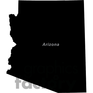 Arizona state silhouette clipart.