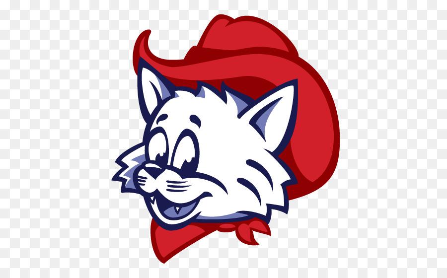 Wilbur and Wilma Wildcat Mascot Logo University of Arizona.