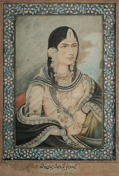 Emperor Akbar Empress Jodha RARE Mughal Miniature Art Royal.