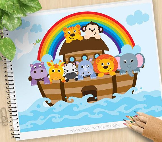 Noah\'s Ark Clipart, Bible Stories, Christian clip art.