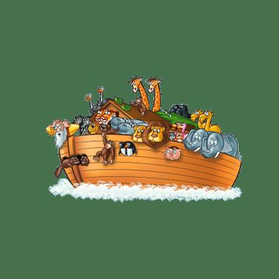 Noah\'s Ark Illustration transparent PNG.