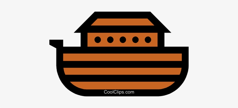 Symbol Of Noah\'s Ark Royalty Free Vector Clip Art.