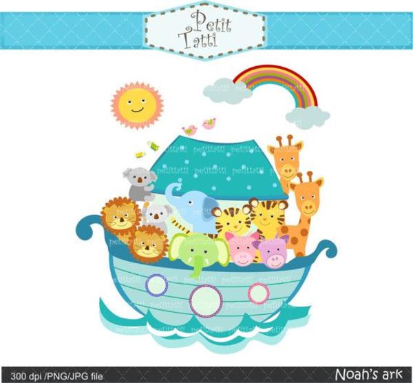 Baby Noah Ark Clipart.