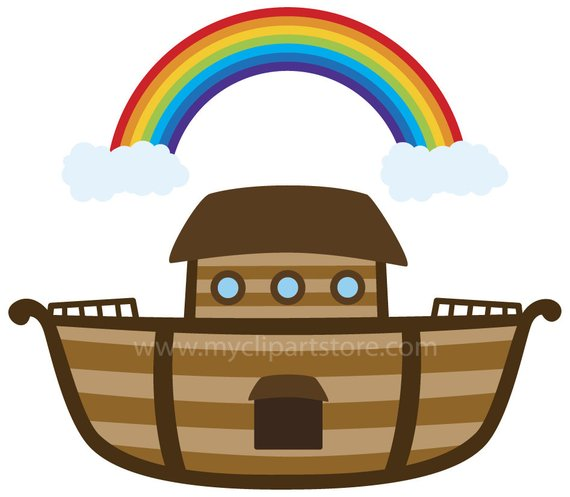 Noah\'s Ark Clipart Single, Fishing Boat, Raft, Bible Stories.