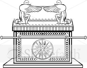 Ark of the Covenant in Black and White.