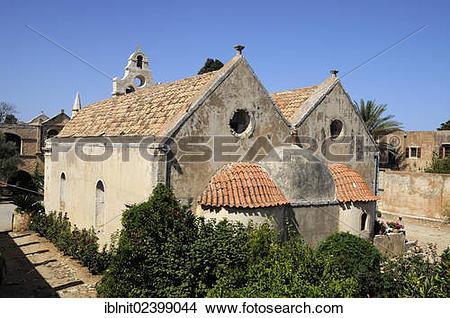 "Stock Photo of ""Moni Arkadi monastery, Crete, Greece, Europe."