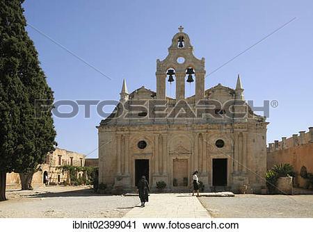"Stock Photography of ""Moni Arkadi monastery, Crete, Greece, Europe."